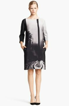 Mary Katrantzou Print Satin Shift Dress available at #Nordstrom