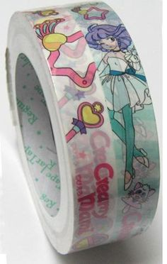 Deco tape. Pattern: Cartoon girl