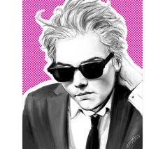 gggorgeousss $12.80 Gerard Way Hesitant Alien pop portrait 8x10  fine art by xiudama