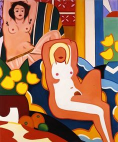 Sunset Nude with Matisse Odalisque by Tom Wesselmann, 2003.  Art Experience NYC  www.artexperiencenyc.com/social_login/?utm_source=pinterest_medium=pins_content=pinterest_pins_campaign=pinterest_initial
