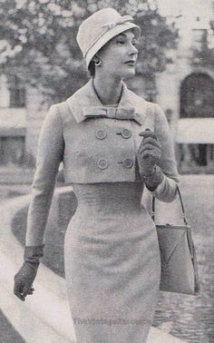 #50's fashion | Bolero style jacket ensemble