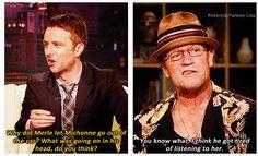 Merle Dixon - Michael Rooker  - The Walking Dead Cast  and Chris Hardwick - Talking Dead