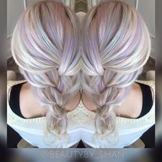 Opal hair. Unicorn hair. Pastel hair. Mermaid hair. Pravana pastels. Balayage. Color melt. Icy blonde. White blonde. Dream hair.   Follow me: @beautyby_shan  https://www.facebook.com/ShanAinsworth/