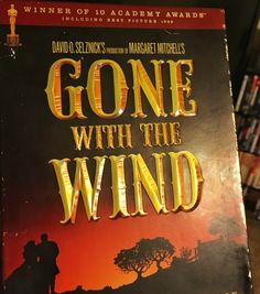 I can't get enough of this vintage and textured typography in this Gone With The Wind DVD casing!