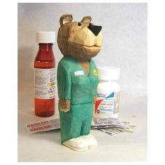 Care Bear Nurse Wood Carving Thank You Gift Art Sculpture (375 MXN) ❤ liked on Polyvore featuring home, home decor, wood carving sculpture, carving sculpture, wood sculpture, wooden sculptures and wooden home decor