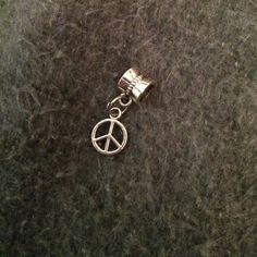 Small peace charm 3 for $12 fits Pandora bracelet. Look a like Pandora Jewelry