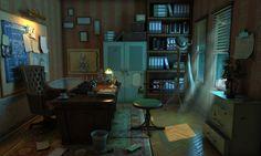 Detectives Office © 2014 horosavin http://horosavin.com/2013/04/05/some-more-video-game-arts/