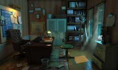 Detectives Office © 2014 horosavin http://horosavin.com/2013/04/05/some-more-video-game-arts/