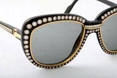 Vintage Cartier diamond and gold sunglasses