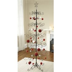 What a pretty Christmas tree - display your favourite decorations -  Beautifully crafted from wrought iron, this stunning tree has  intricately-scrolled ...