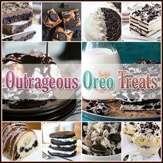 The Cottage Market: Outrageous OREO Treats.links to many YUMMY treats made with Oreos! Sweet Desserts, Just Desserts, Delicious Desserts, Oreo Desserts, Yummy Food, Tasty, Oreo Treats, Yummy Treats, Sweet Treats