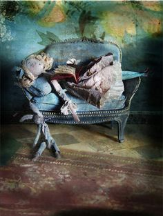 "Miss Clara is a wonderful papier mache /mixed media artist   ""The books MissClara"""