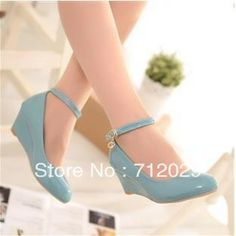 Sweet japanned leather small fresh candy color wedges single shoes women's shoes flat platform casual flat $23.60