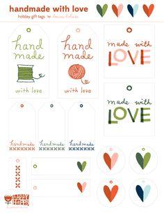 deniseholmes_ hand made printable gift tag Birthday Gifts For Boyfriend Diy, Boyfriend Gifts, Holiday Gift Tags, Christmas Gifts, Handmade Gift Tags, Love Holidays, Gift Tags Printable, Happy Fun, Birthday Diy