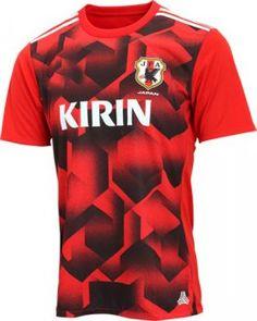 Japan National Team 2017-18 Away Red Training Shirt [K586]