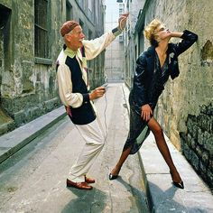 Norman Parkinson with Frankie. French Vogue 1983. Portraits in Fashion, Norman Parkinson by Robin Muir. Published by Palazzo   CREDIT: NORMAN PARKINSON ARCHIVE