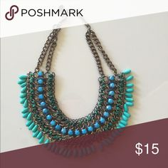 Zara statement necklace Beautiful, excellent condition, goes great with any outfit. Zara Accessories
