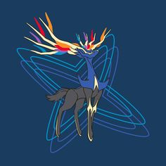 Xerneas Navy Relaxed Fit Crewneck T-Shirt