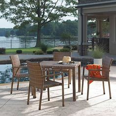 Panama Jack St Barths 5 Piece Arm Chair Dining Set
