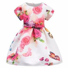 Rozenjurkje met riem, 2-9 jaar Kids Prom Dresses, Wedding Dresses For Girls, Girls Party Dress, Baby Girl Dresses, Baby Dress, Summer Dresses, Party Dresses, Princess Costumes, Girl Costumes