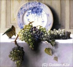 View Still life with grapes by John Elwood Bundy on artnet. Browse upcoming and past auction lots by John Elwood Bundy. Grape Painting, Fruit Painting, Types Of Painting, Embroidery Patterns, Cross Stitch Patterns, American Impressionism, Still Life Photos, Tile Murals, Estilo Retro