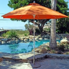 (CLICK IMAGE TWICE FOR PRICING AND INFO) #patioumbrellas #patio #umbrellas #patiofurniture SEE MORE patio umbrellas at ZPATIOFURNITURE.COM - Galtech 9-ft. Aluminum Tilt Patio Umbrella Size-Color – Bar Height-Charcoal – Sunbrella Chili Linen / Grade A « zPatioFurniture.com