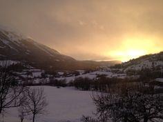 Snowy Sun Set