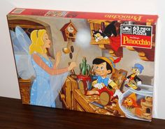 Pinocchio+63+Piece+Giant+Floor+Jigsaw+Puzzle+Golden+5008+Walt+Disney+NIB+Sealed