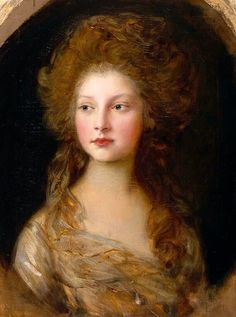 "beautifuldavinci:  "" Thomas Gainsborough: Princess Elizabeth (1770-1840). 1782  """