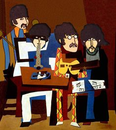 Good artists copy, great artists steal. ~ Pablo Picasso /The Four Musicians by VenusOak