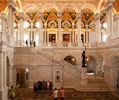 Washington, D.C., Library of Congress: When the original library burned down in 1814, Thomas Jefferson seeded a new one with his own much broader collection of books. Minerva, the Roman goddess of wisdom, stands guard in mosaic form above the main reading room, and scrolls, books, and torches pop up throughout the Library of Congress. Highlights include the main reading room and the Gutenberg Bible (one of 42 left in the world).