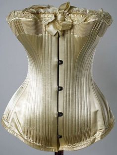 shewhoworshipscarlin:1) Corset, 1889. 2) Corset, 1835. (This corset is unusually long for the time period.) 3) Plunge corset, 1905. 4) Corset, 1908. 5) Corset, mid 1880s, USA. 6) Corset, 1890, USA. 7) Corset, 1800s. 8) Reform corset, 1878. 9) Corset, 1900-10, United Kingdom. 10) Summer corset, 1890s.