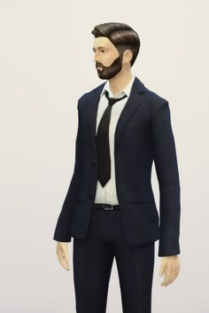 Rusty Nail: Business suit retouch V2 • Sims 4 Downloads