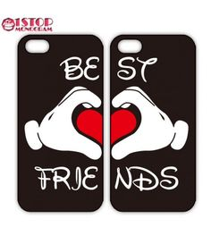 Disney Best Friends Mickey Love iPhone case or Galaxy Case, Two Case Set
