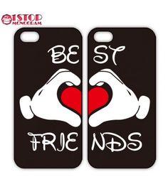 Disney Best Friends Mickey Love iPhone case or Galaxy Case, Two Case Set