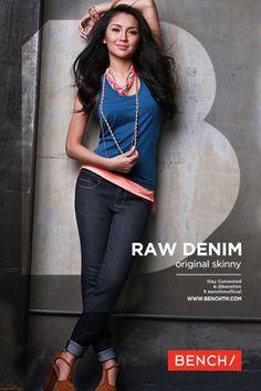 Kathryn Bernardo For Bench's 2013 Denim Collection Photo Filipina Actress, Filipina Beauty, Philippines Fashion, Kathryn Bernardo, Raw Denim, Asian Beauty, Real Beauty, Pretty Face, Artists