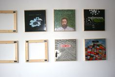 DIY Vinyl display (that's cheap and swappable)
