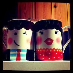 These are the perfect mugs for the perfect couple!