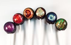 6 Agate Geology Hard Candy Lollipops by LIQNYC on Etsy