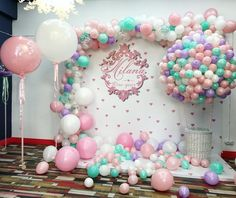 Super baby shower ideas for girs balloons decoration Ideas 1st Birthday Party For Girls, Unicorn Birthday Parties, Baby Birthday, Birthday Ideas, Baby Shower Balloons, Baby Shower Themes, Baby Shower Decorations, Shower Ideas, Balloon Garland