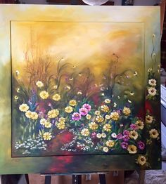 Painting on canvas with acrylic colors.