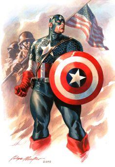 Steve Rogers CAPTAIN AMERICA by Felipe Massafera