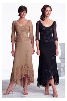 Scoop Neckline Long Illusion Sleeves Applique Flower New Dress