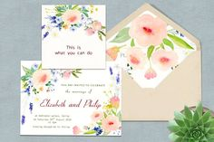 Watercolor Floral DIY Pack - Cards