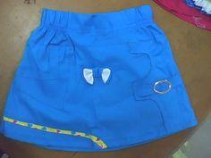 falda cortada en tela popelina diseño infantil