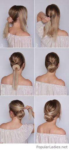 Amazing low bun tutorial