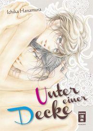 """""""Unter einer Decke"""" ist ein besonders gefühlsbetonter Boys Love Manga in heller, zarter Optik für Leserinnen, die es romantisch und erotisch explizit bevorzugen. Ein Schuss problembehaftete Alltagsrealität sorgt zum Glück dafür, dass das Ganze nicht im Kitsch versumpft."""