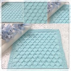 Knitted Washcloths, Crochet Dishcloths, Knitted Baby Blankets, Lace Knitting, Knitting Patterns Free, Crochet Patterns, Filet Crochet, Knit Crochet, Tricot Baby