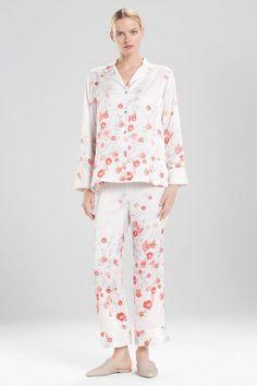 7c982cec9369d Natori Blossom Floral Print Satin Pj Set Pajamas Size XL Pjs New Nwt