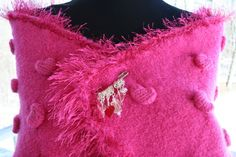 Valentine Hot Pink Scarf/Wrap with free pin  #hvnyteam
